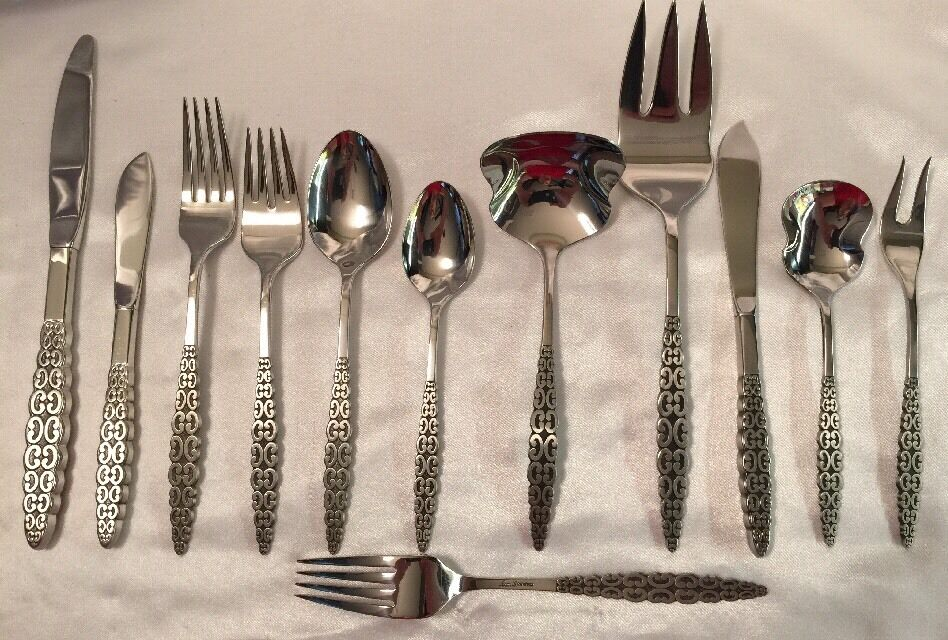 International Lyon Romanesque Stainless Steel Flatware