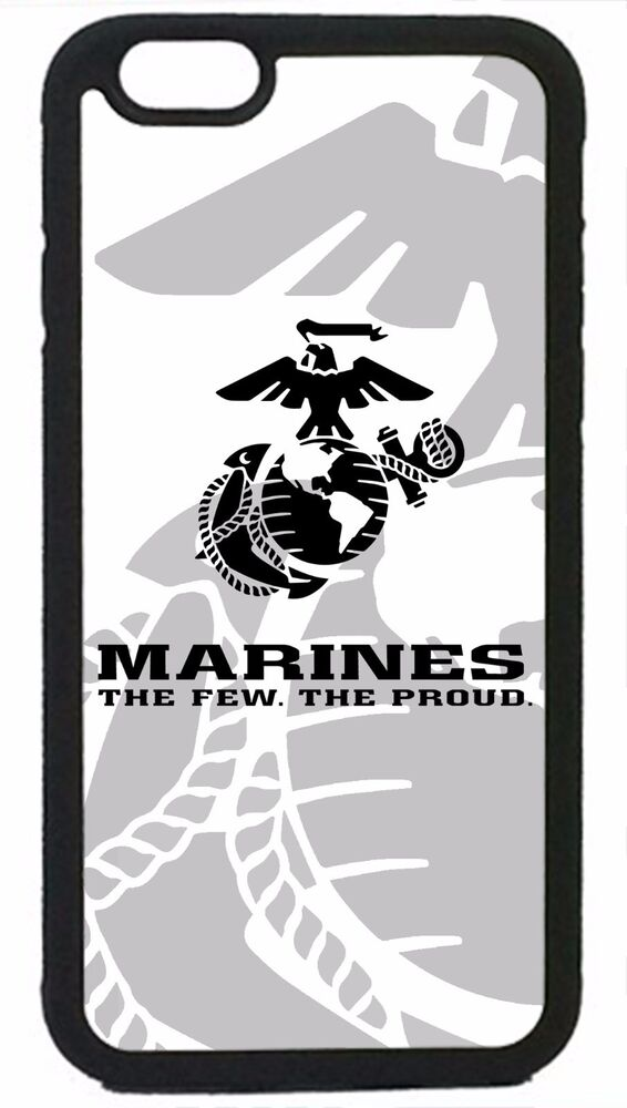 USMC Marines Marine Corps Logo Black Cover Case for iPhone 4 4s 5 5s ...