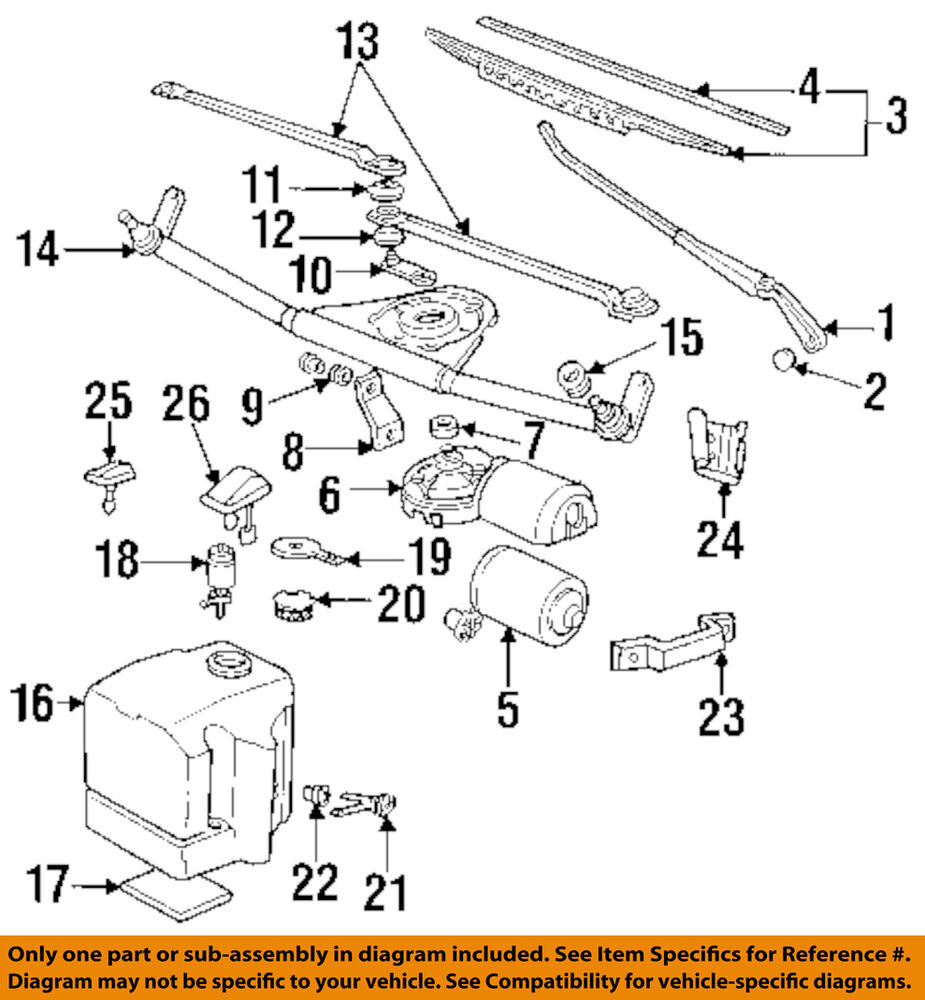 Bmw Oem 92 94 325i Wiper Washer Windshield Rod Assembly