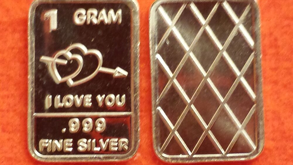 Lot Five 5 New Whason Mint 1 Gram 999 Fine Silver Bars