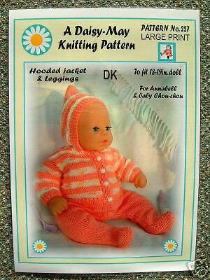 Knitted Boot Pattern : 1 Dolls knitting pattern for Annabell by Daisy-May 18 to 19 inch doll *No.227...