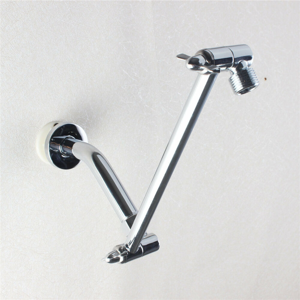 Telescoping Shower Arm : Inch brass chrome adjustable height shower arm extension