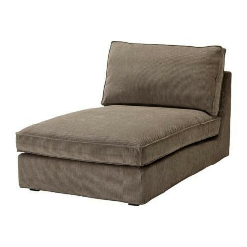 ikea cover for ikea kivik chaise lounge corduroy slipcover tran s light brown ebay. Black Bedroom Furniture Sets. Home Design Ideas