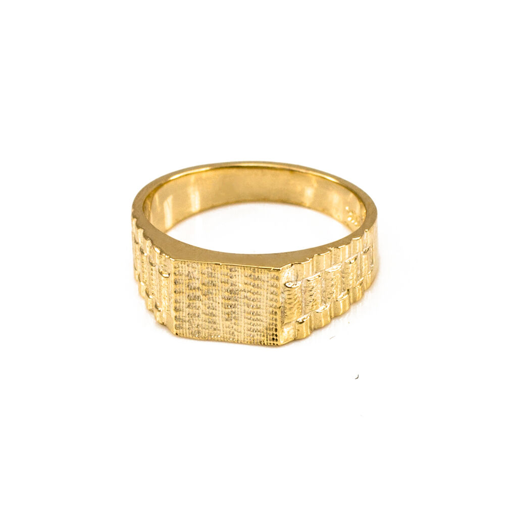 10k Solid Gold Watchband Design Baby Ring Ebay