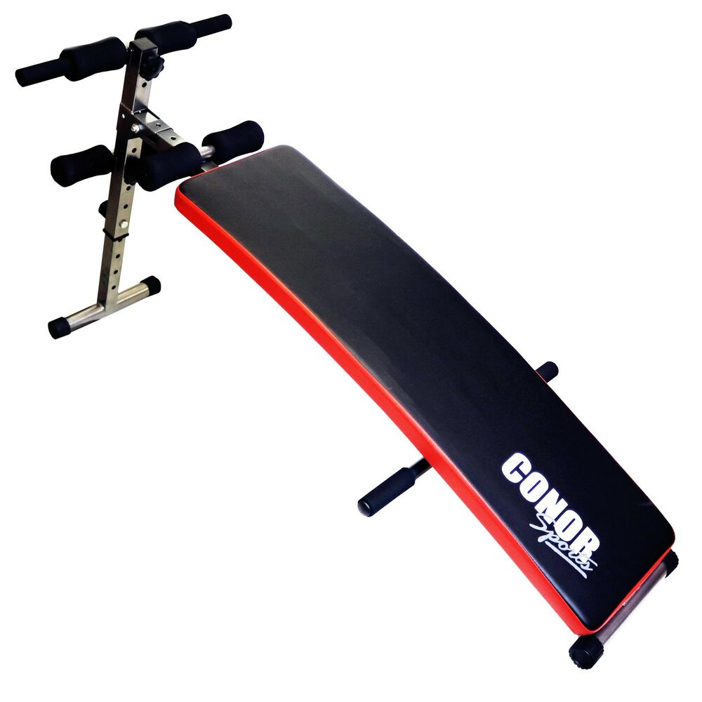 Conor Sports Folding Sit Up Ab Bench With Push Up Bar Home Gym Workout Exercise Ebay
