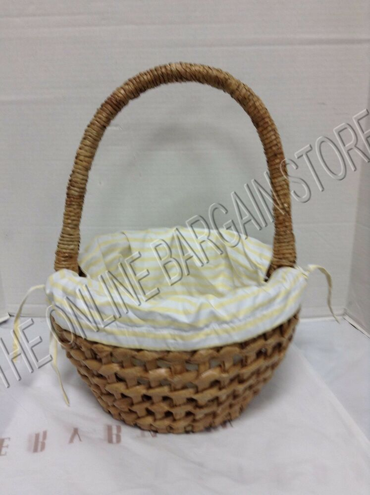 Pottery Barn Woven Easter Spring Basket Seagrass Braid