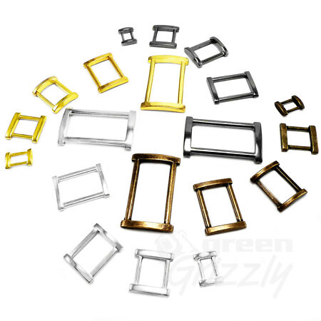 img-Solid Rectangle Metal Square Ring Belt buckle for webbing 12 15 20 25 30 40 mm