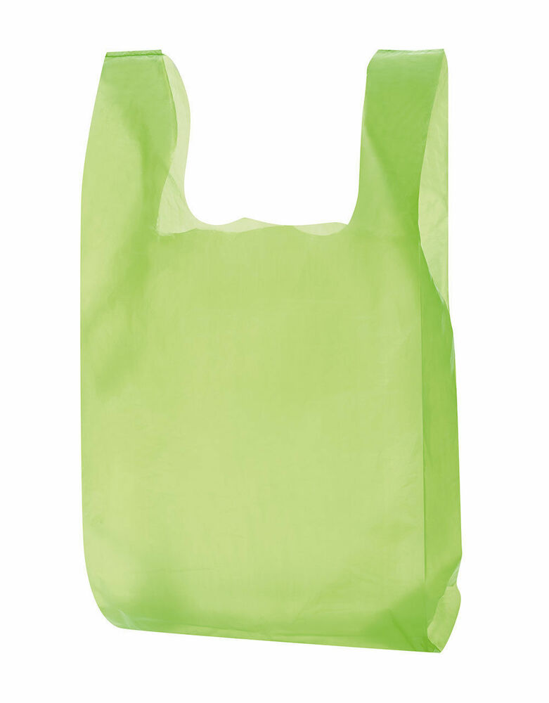 Plastic bags 1000 lime green shopping grocery retail for Plastic bags for t shirts