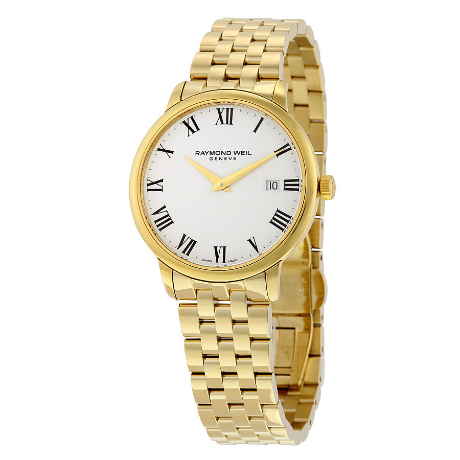 Raymond weil toccata white dial yellow gold pvd mens watch 5488 p 00300 ebay for Raymond weil watch