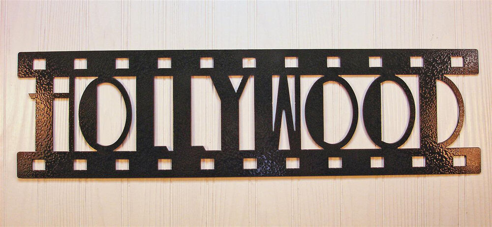 Hollywood New Metal Wall Art Home Theater Decor
