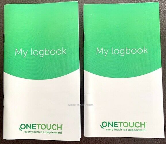 lifescan onetouch logbook - lot of 2