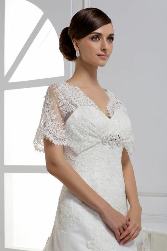 New vintage lace wedding dresses gown bridal dress white for Ebay wedding dresses size 12