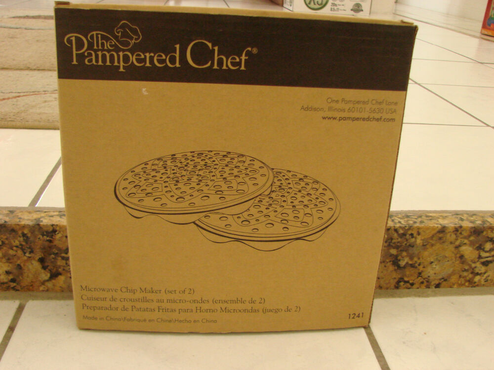 The Pampered Chef Microwave Chip Maker Potato Or Apple