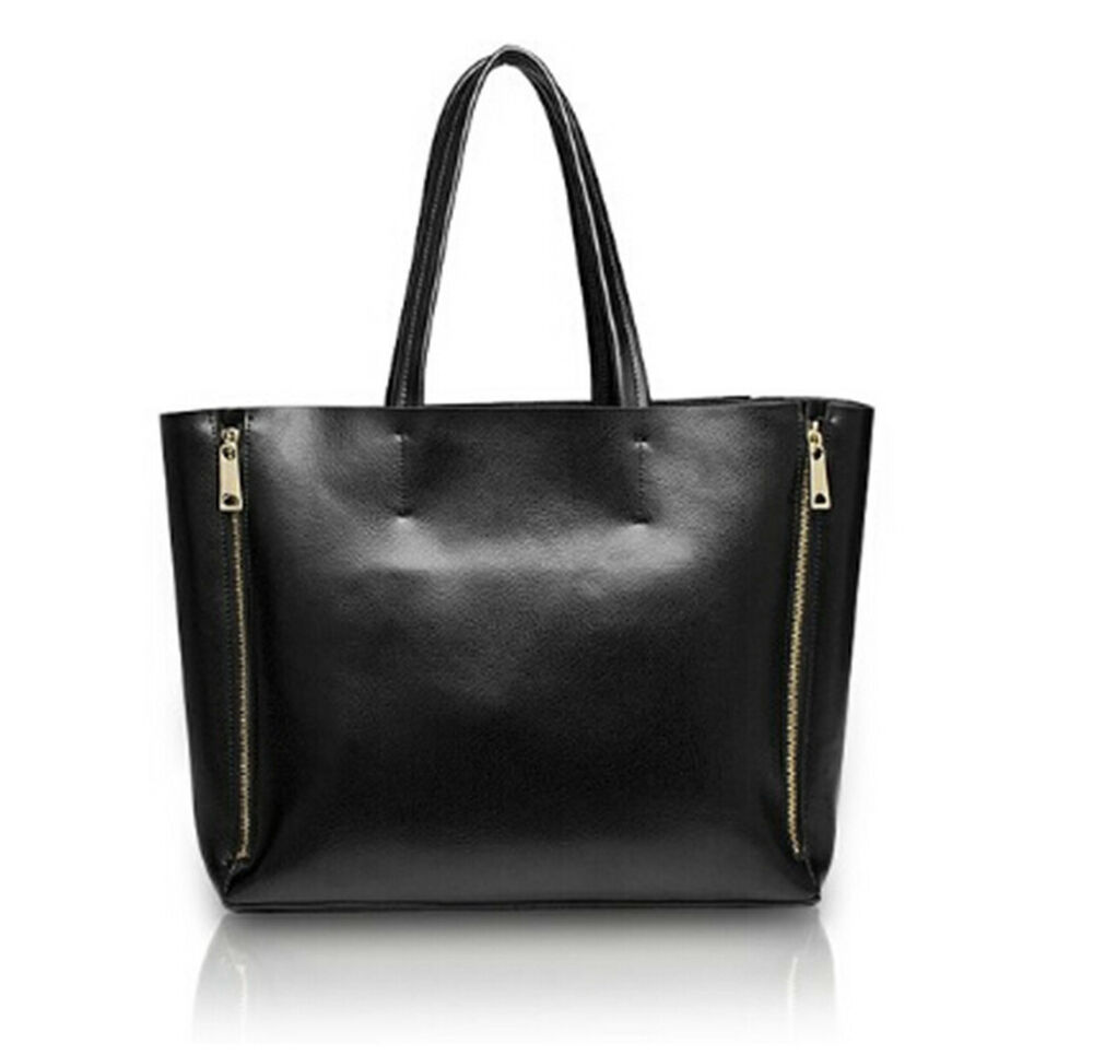 luxury women 39 s lady genuine leather diaper bag large baggu top tote hand bags ebay. Black Bedroom Furniture Sets. Home Design Ideas