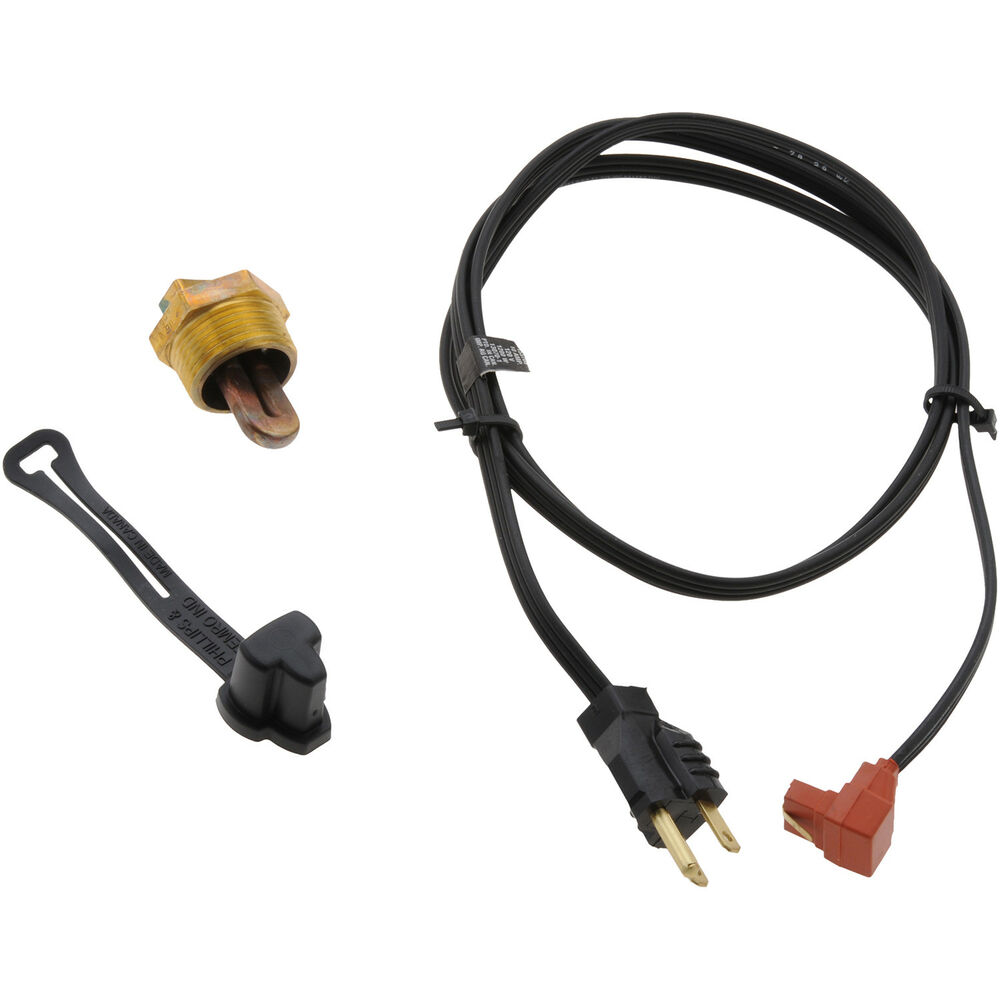 Engine Block Heater With Cord Fits Perkins 540 (8 Cyl.)