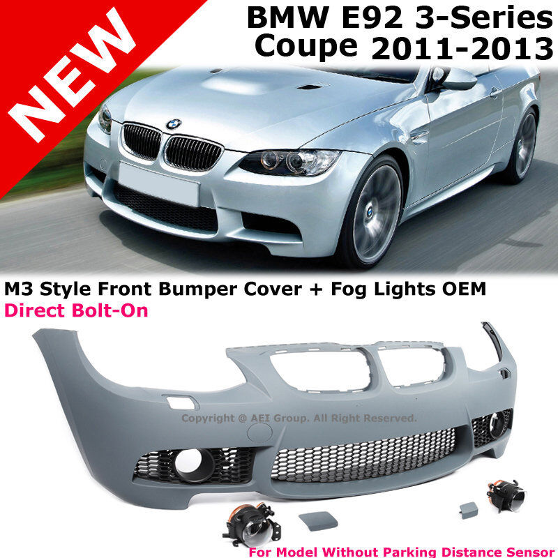 BMW E92 3-Series 11-13 NO PDC M3 Style Front Bumper Cover