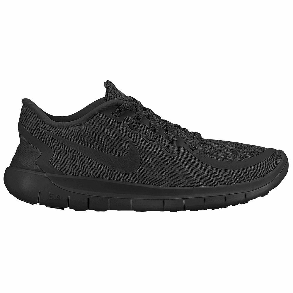 new mens all black nike free 5 0 running shoes all sizes ebay. Black Bedroom Furniture Sets. Home Design Ideas