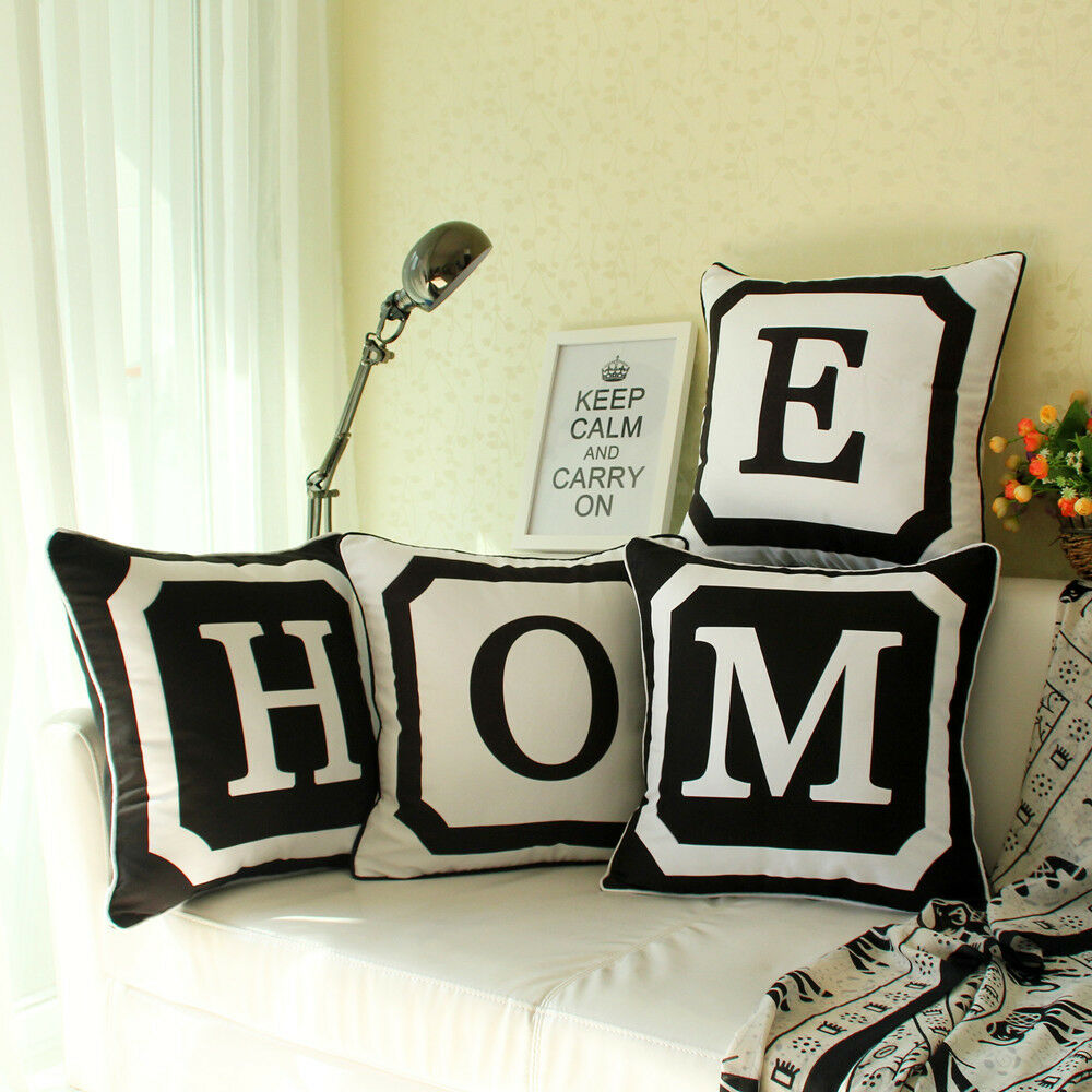 18 Quot Monogrammed Personalized 26 Initial Sofa Letter Pillow