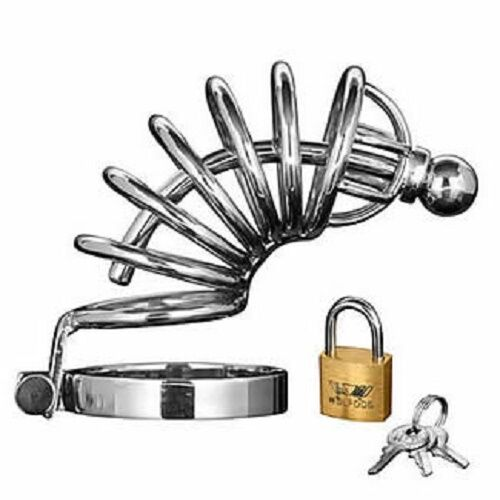 Locking your useless cock up in a chastity device 7