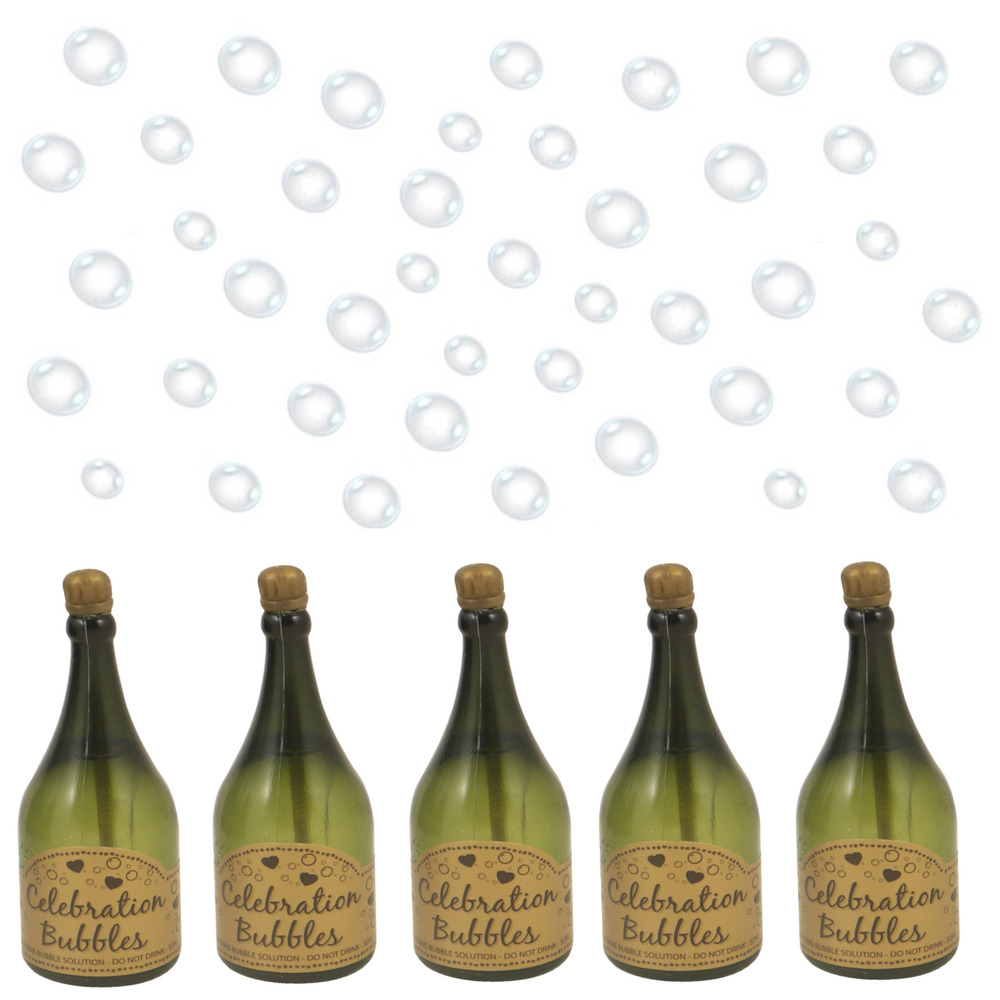 1 12 24 48 72 96 green champagne bottle wedding bubbles - Deco table campagne ...