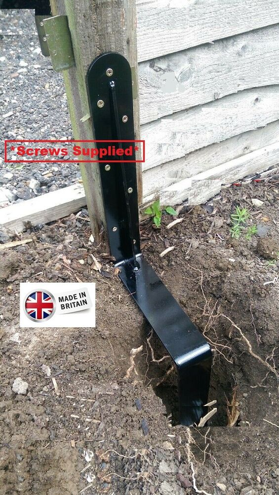 Easy Fence Post Repair Spike Knock In Concrete In And