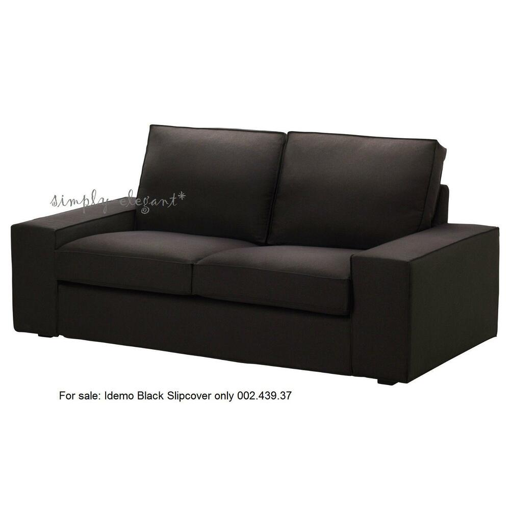 ikea slipcover black kivik loveseat 2 seat sofa cover