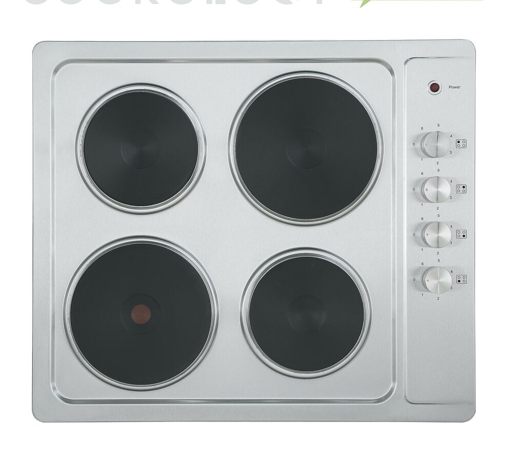 Cookology Sep600ss 60cm Stainless Steel Electric Hob 4