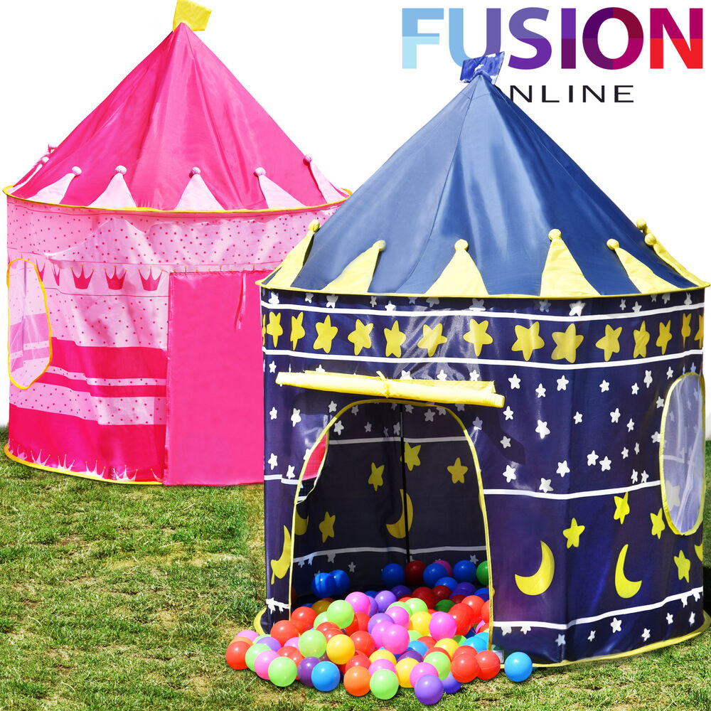 childrens kids pop up castle playhouse girls princess. Black Bedroom Furniture Sets. Home Design Ideas