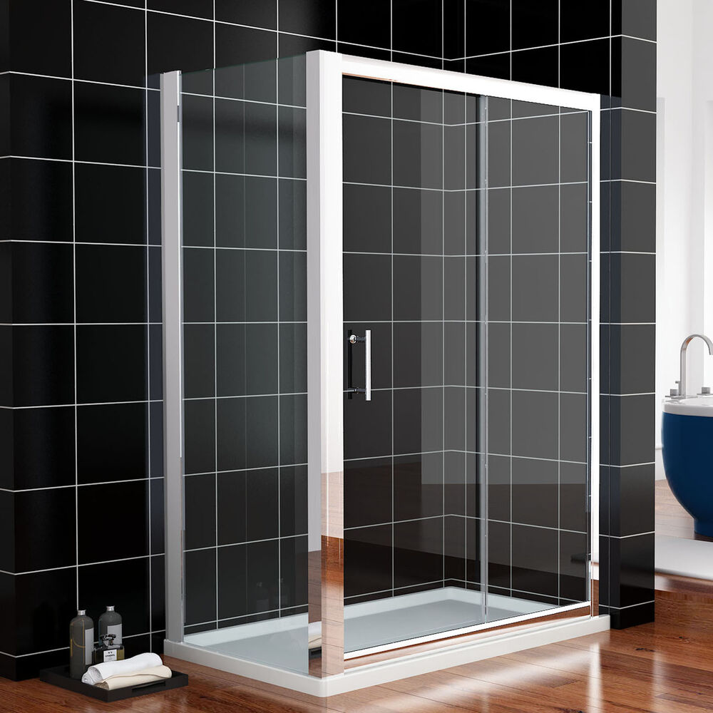 Sliding Glass Door Screens: 1000x700mm Sliding Shower Enclosure Cubicle Glass Screen