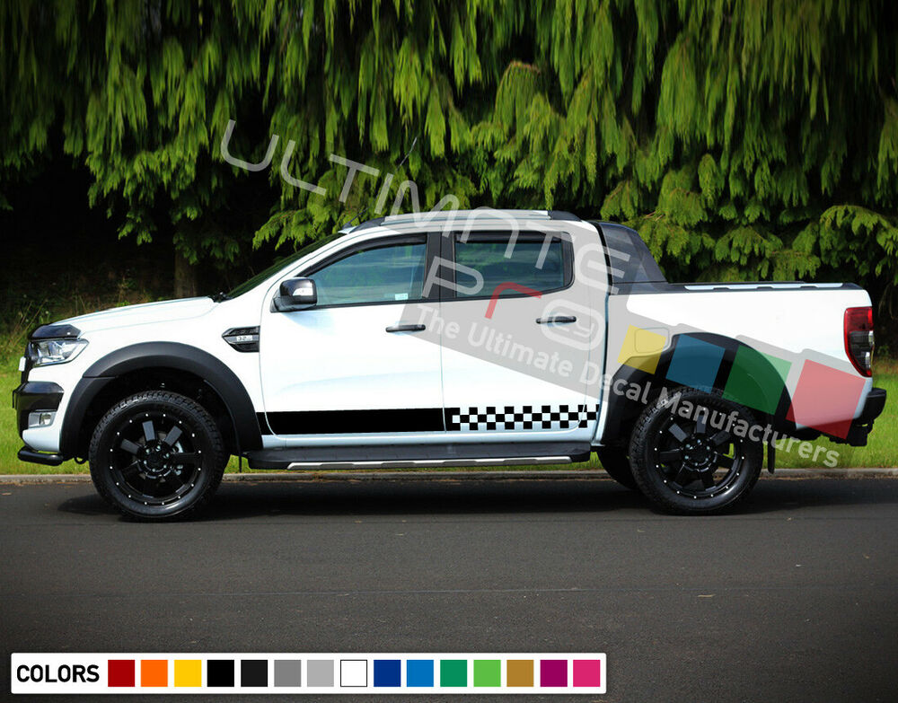 2 Decal Sticker Stripes Kit For Ford Ranger 4 X 4 Pickup
