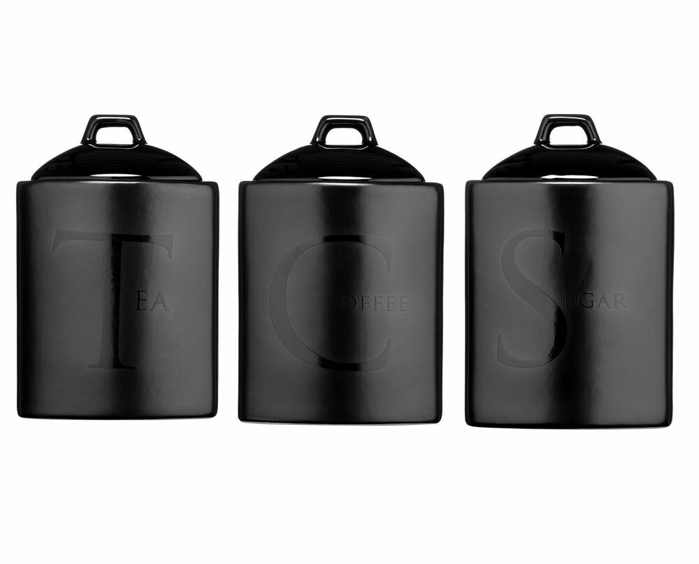 ceramic tea coffee sugar canisters kitchen storage jars kitchen black kitchen canisters sets black kitchen