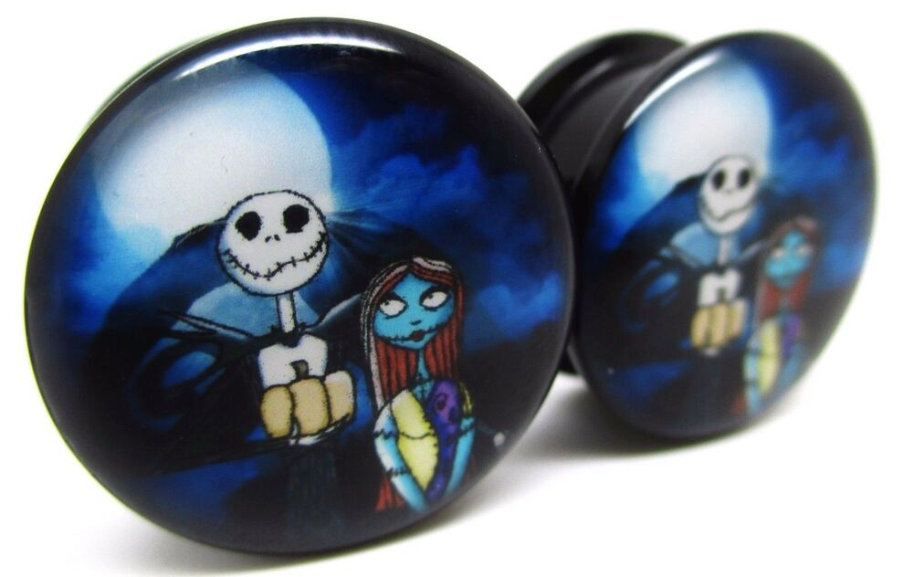 The Nightmare Before Christmas Screw on Ear Plugs Jack and Sally 10 ...