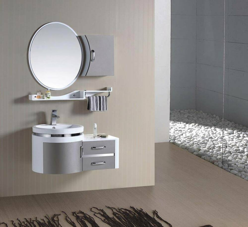 Bathroom furniture vanity suite half price ebay for What to hang on bathroom walls