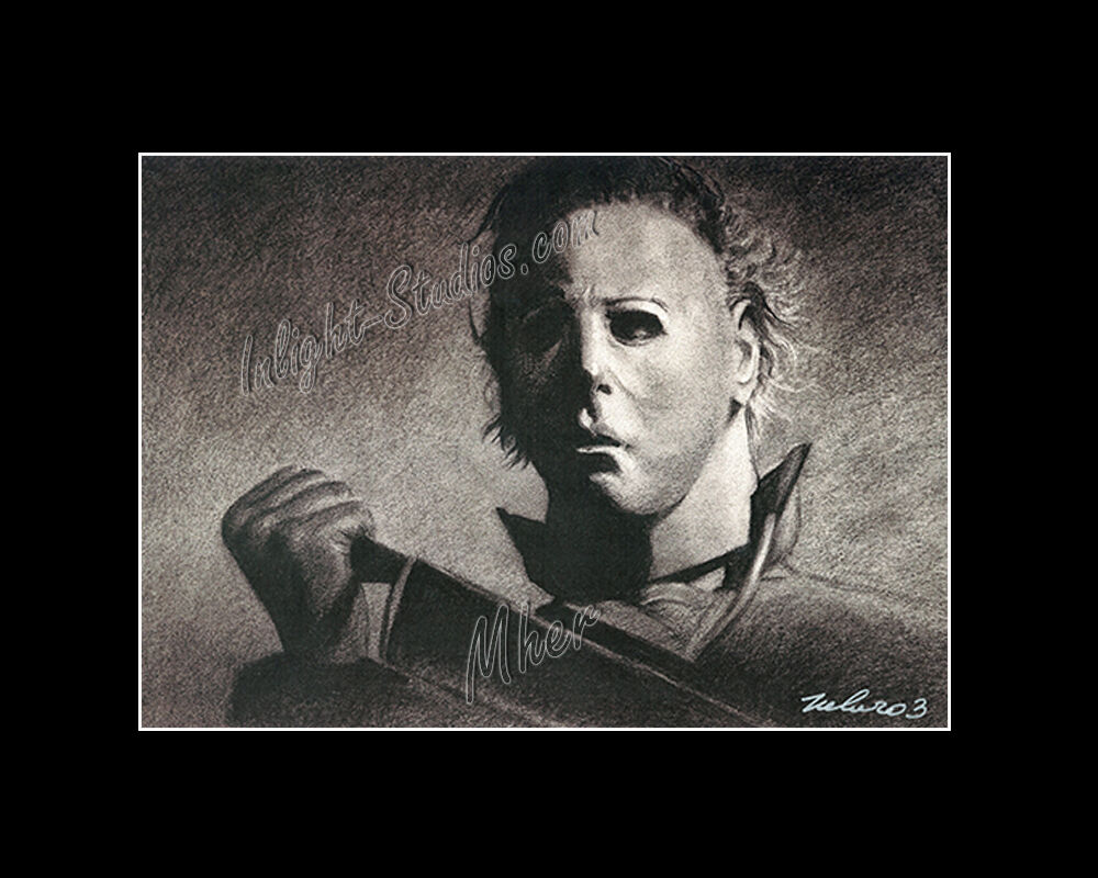 michael myers halloween horror character drawing fro