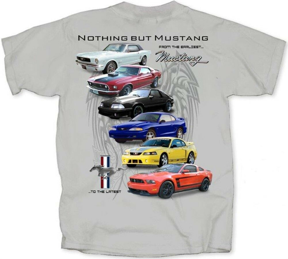 ford mustang t shirts mach 1 fox body 5 0 boss 302. Black Bedroom Furniture Sets. Home Design Ideas