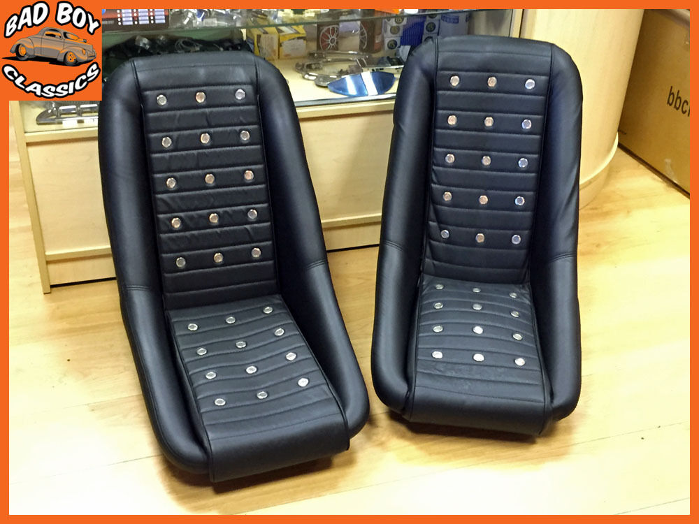 pair of classic bb2 racing clubman bucket sports seats ideal for classic mini ebay. Black Bedroom Furniture Sets. Home Design Ideas