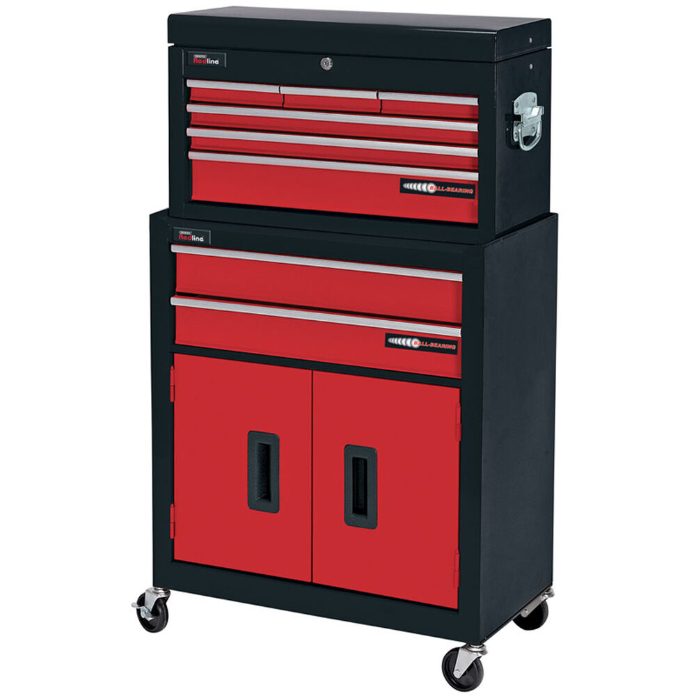 draper 8 drawer red metal tool chest roller storage cabinet tool box ebay. Black Bedroom Furniture Sets. Home Design Ideas