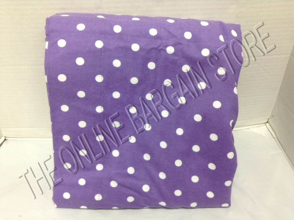 Pottery Barn Teen Dottie Dot Flannel Bed Flat Sheet Only