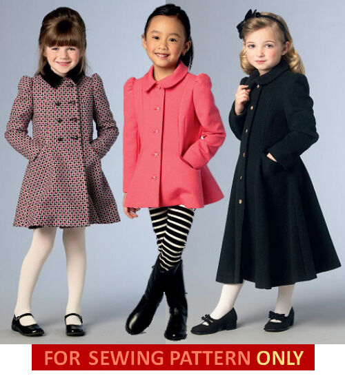 vogue sewing pattern make girls fitted coatjacket