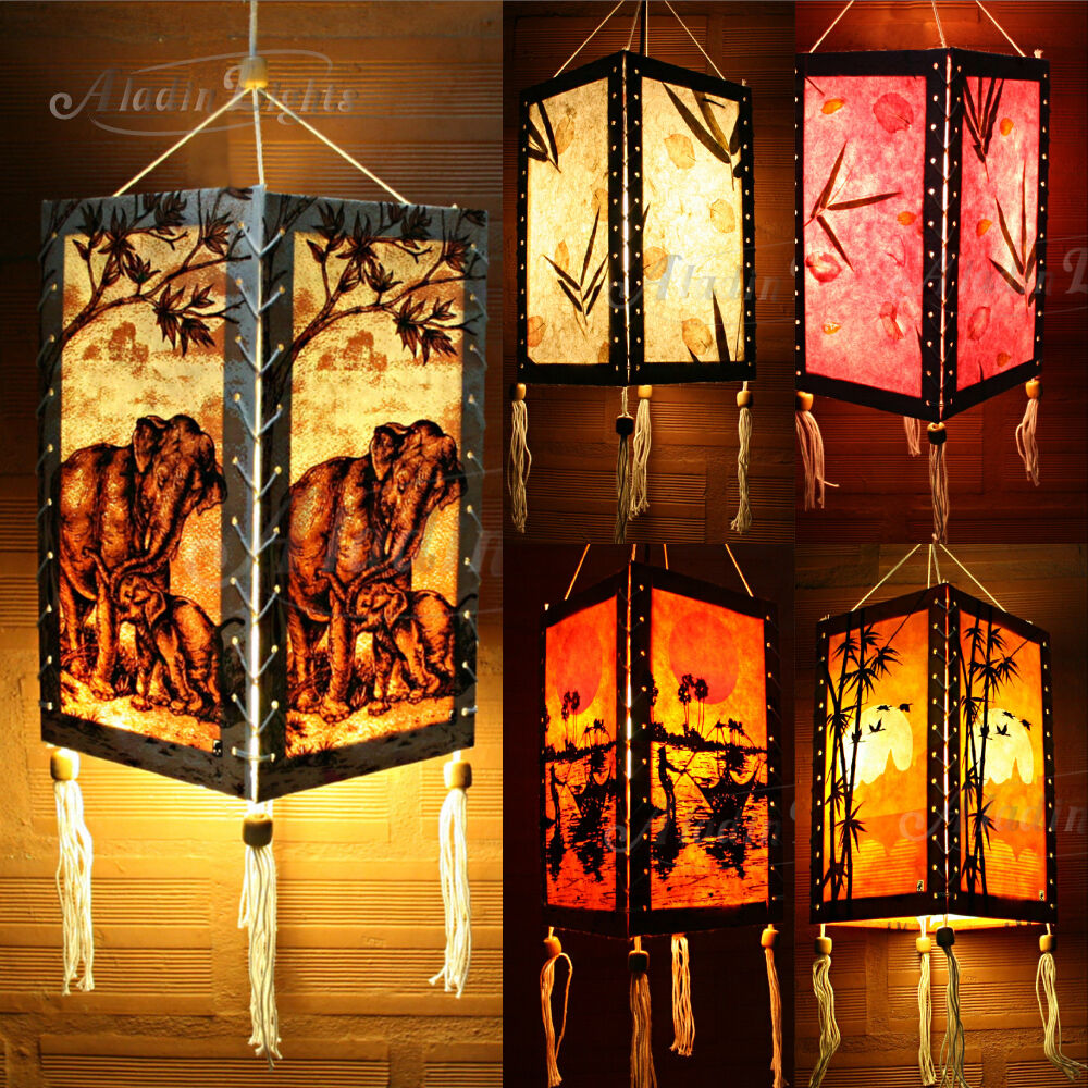 Aladin hanging lamp lampshade asian oriental home garden for Lamp decoration design