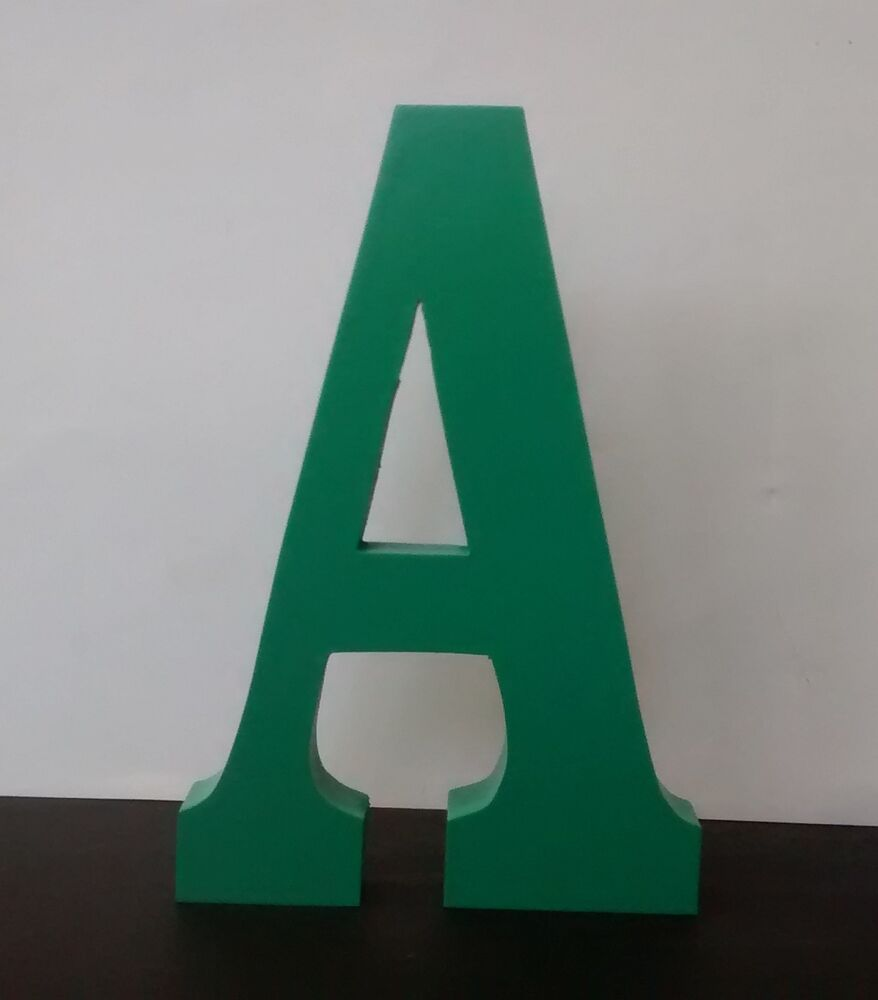 Free standing wooden letters large 15 cm painted wooden for Large freestanding wooden letters