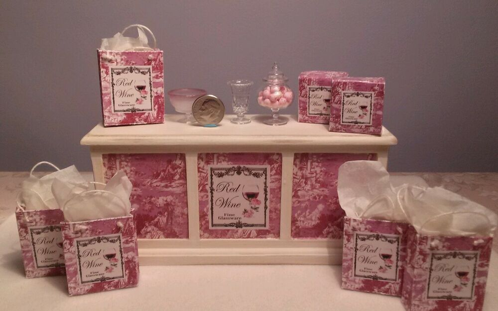 Dollhouse Miniature Artisan Shop Display With Custom Gift
