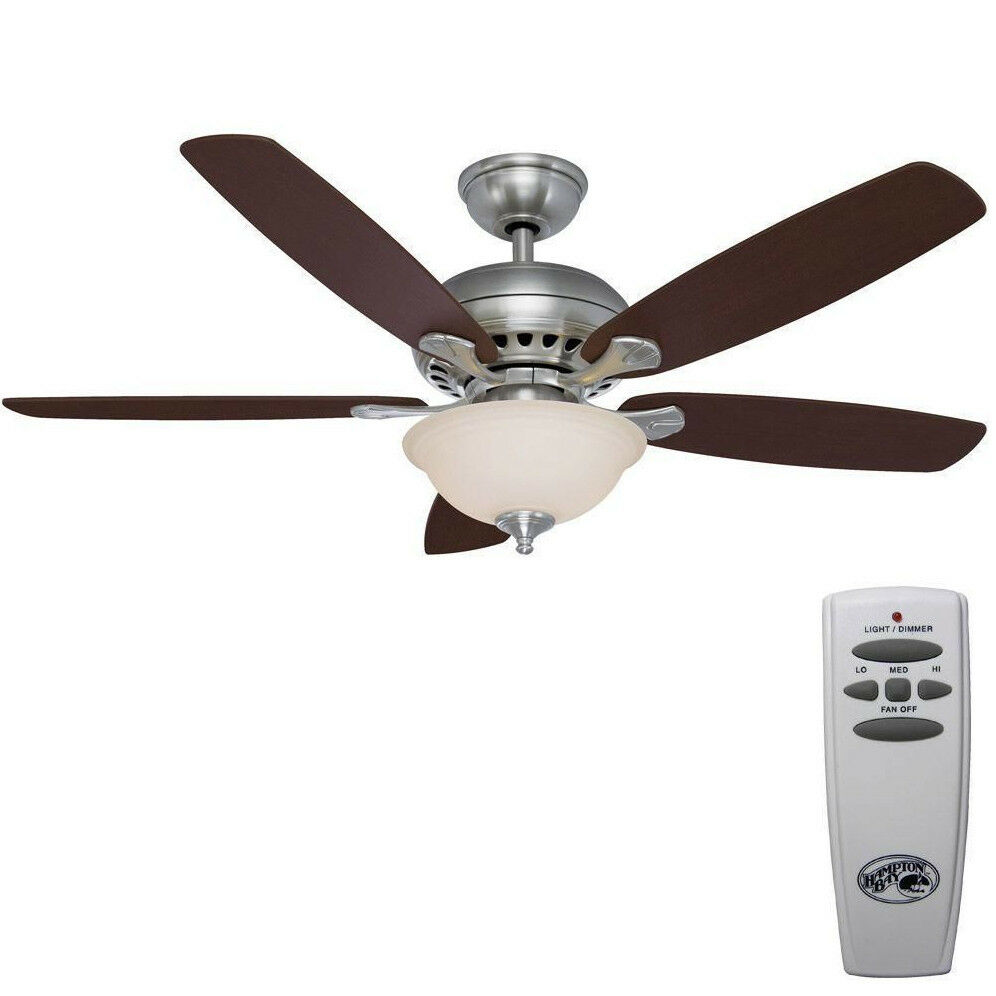 Hampton Bay Southwind 52 In. Brushed Nickel Ceiling Fan