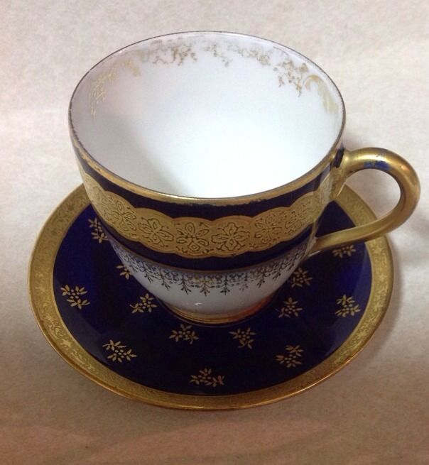 antique limoges france cup saucer porcelain w g co ebay. Black Bedroom Furniture Sets. Home Design Ideas