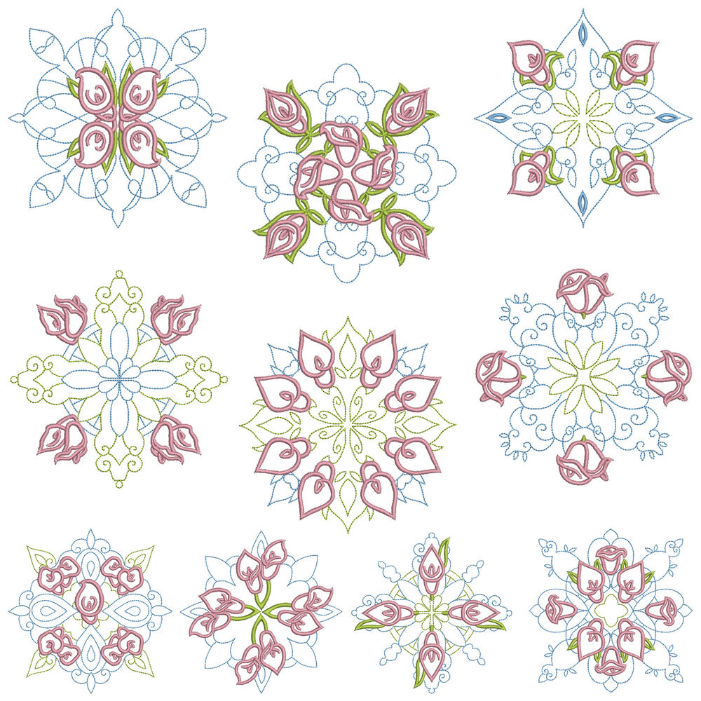 Quiltblocks machine embroidery patterns designs