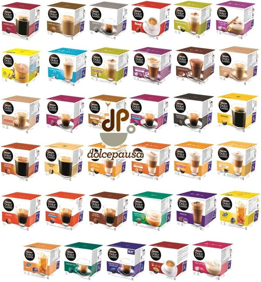 96 capsule cialde dolce gusto nescafe originali miglior prezzo del web ebay. Black Bedroom Furniture Sets. Home Design Ideas