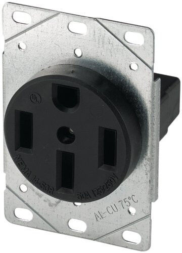ac receptacle wiring code new cooper wiring devices 1258-sp 50-amp 125/250v range ... range receptacle wiring