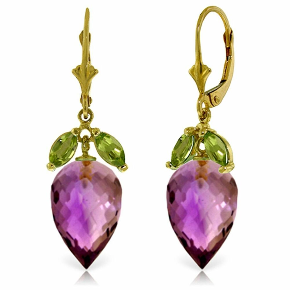 genuine amethyst peridot gemstones dangle leverback. Black Bedroom Furniture Sets. Home Design Ideas