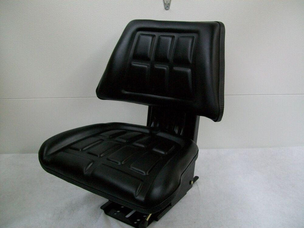 Black Trapezoid Waffle Spring Suspension Seat Farm Tractor