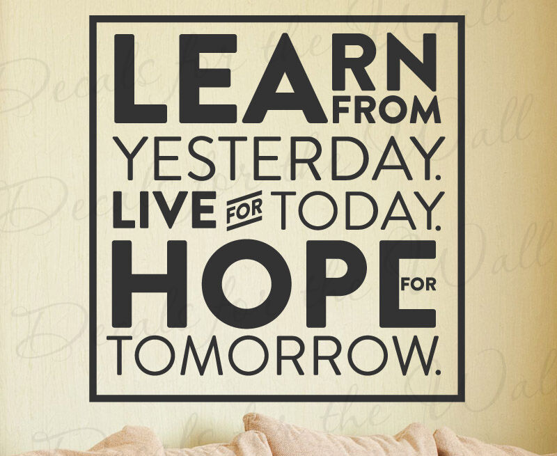 Learn Yesterday Live Today Hope Tomorrow Einstein Quote ...